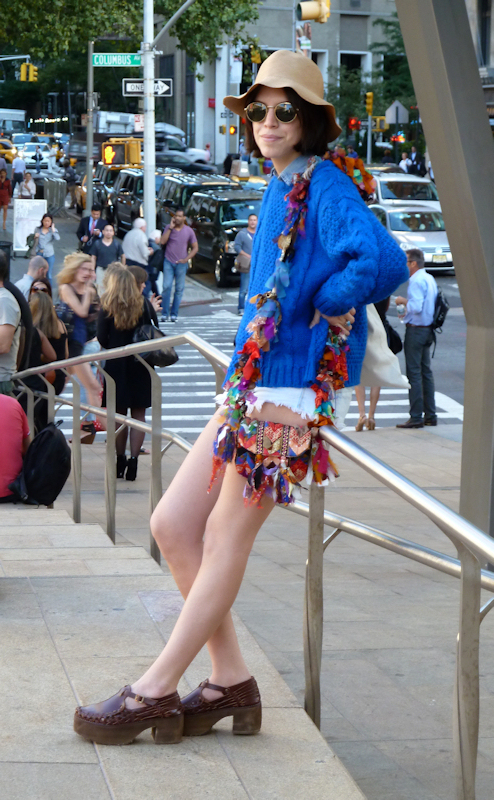 Photo of quirky young girl seen near Lincoln Center at the 2012 Mercedes Benz Fashion Week - taken by Joana Miranda