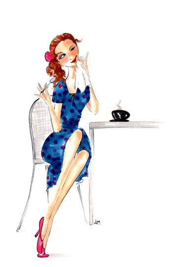 """Marker and ink illustration """"Josephine's Recipe for Life"""" by Joana Miranda"""