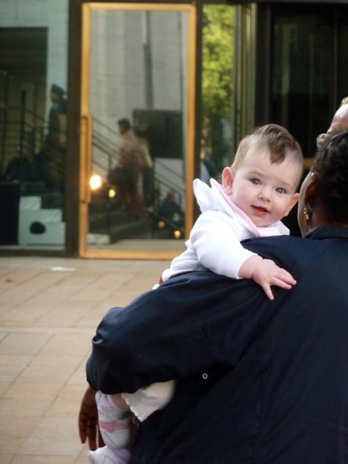 Photo of baby with mohawk, at 2012 Mercedez Benz Fashion Week - taken by Joana Miranda
