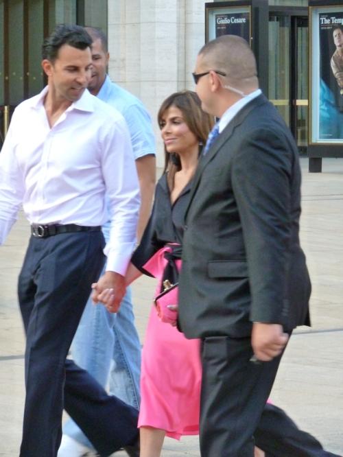 Photo of Paula Abdul walking across Lincoln Center Plaza at 2012 Mercedes Benz Fashion Week - photo by Joana Miranda