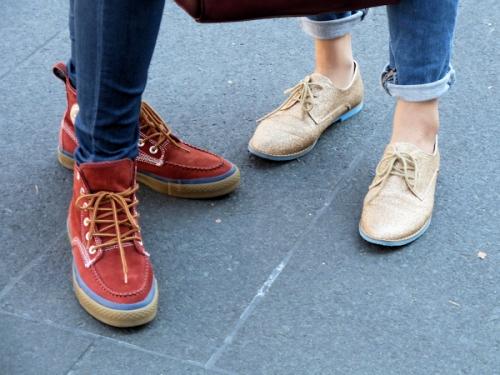 Photo of glittery sneakers seen at 2012 Fashion Week - taken by Joana Miranda