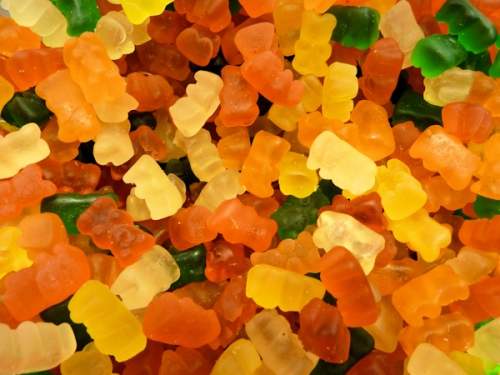 Photo of assorted gummy bears, taken by Joana Miranda