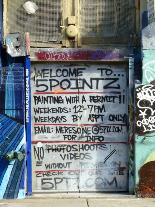 "Photo of ""rules"" for painting at 5Pointz, taken by Joana Miranda"