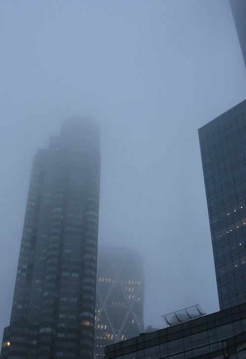 Time Warner Center in the fog