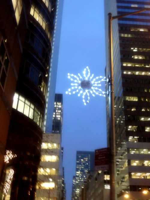 Photo of star ornament on Upper East Side