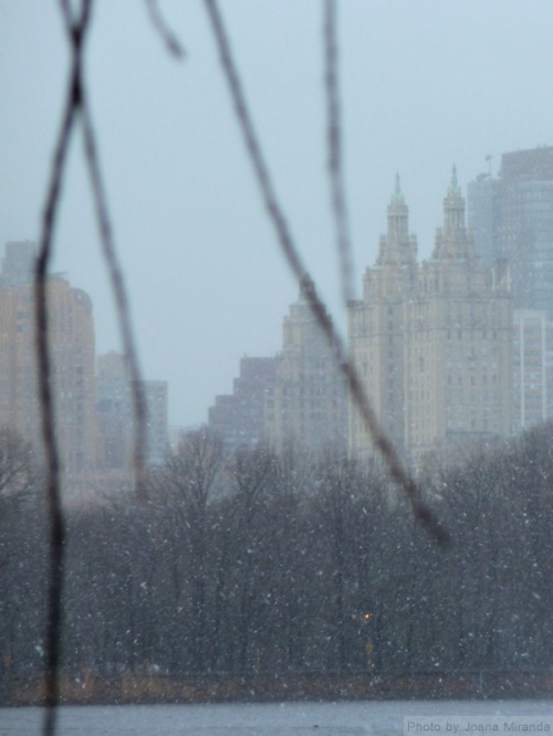Central Park West in the snow