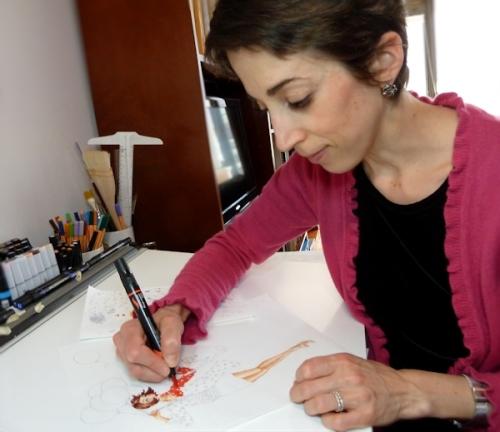 Joana working