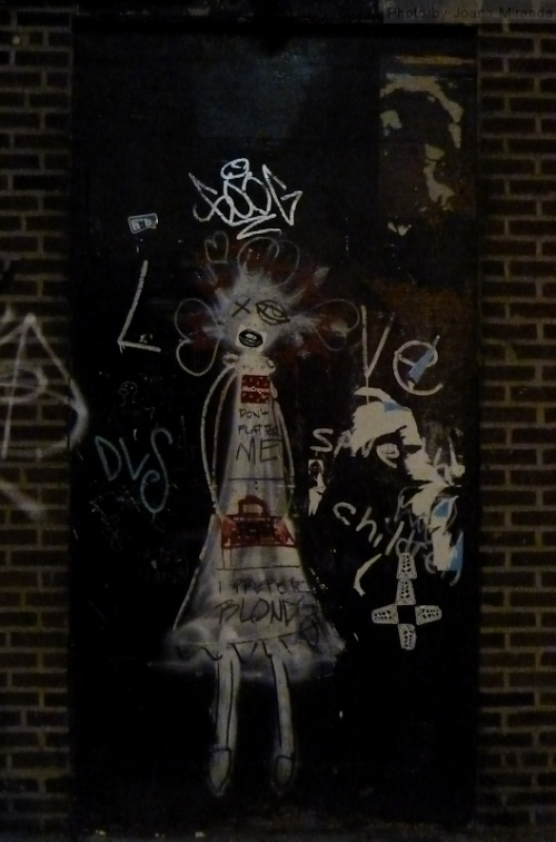 scary girl graffiti