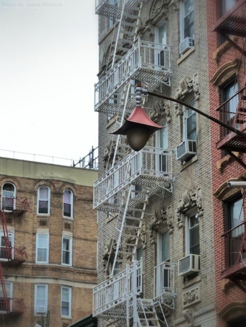 fire escapes in Chinatown