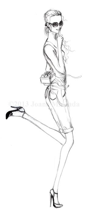 girl kicking up her heel