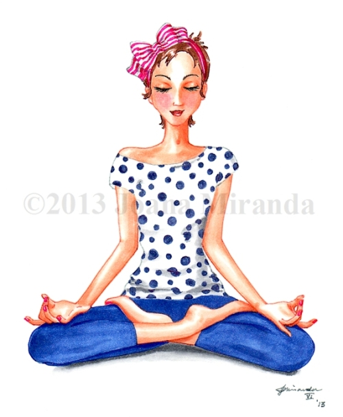 Josephine meditates for blog