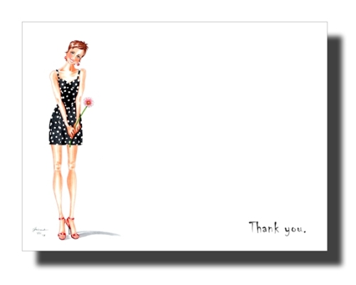 horizontal polka dot thank you card mockup