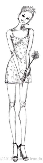 polka dot thank you sketch