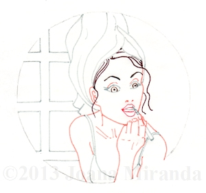 in the mirror pen outline