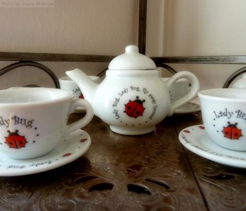 dolls ladybug tea set
