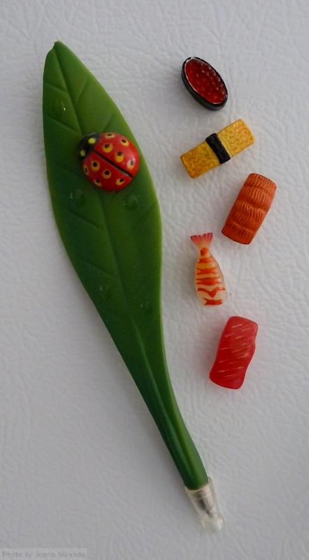 ladybug pen magnet