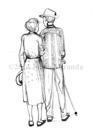 old couple sketch