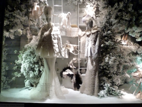2013 Icy Xmas Window Display at Bergdorf Goodman