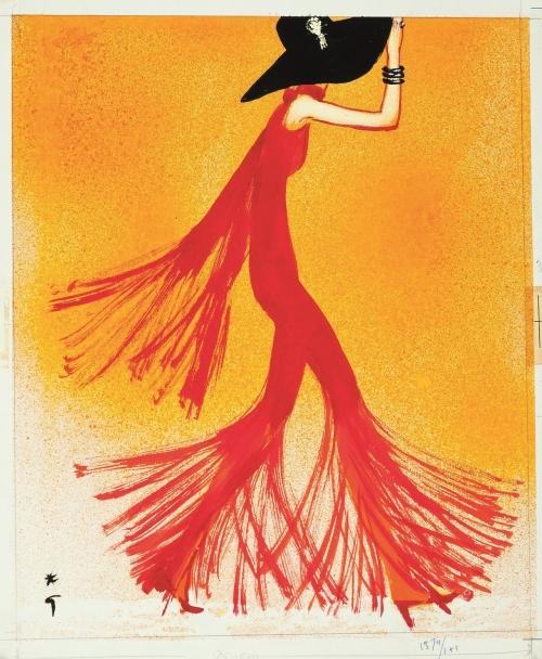 Rene Gruau illustration