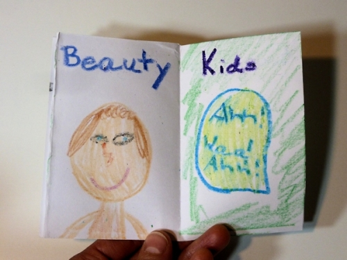 Beauty and Art pages of Anna's birthday book