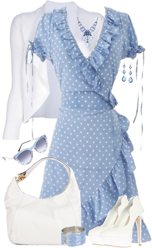 blue polka dot dress board