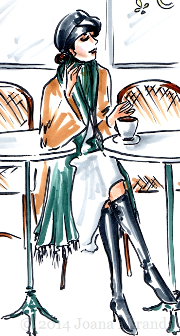 detail from cafe sketch