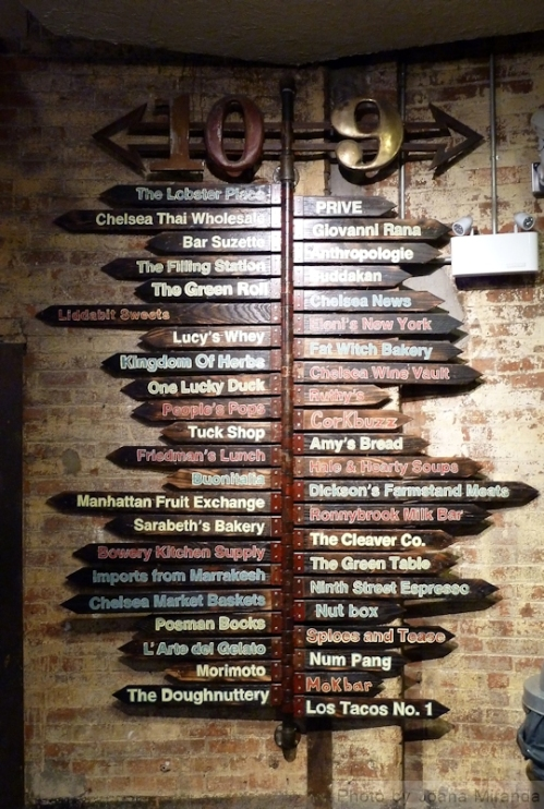 signs in Chelsea Market