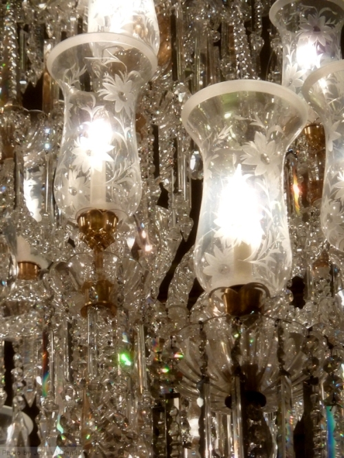 Chandelier at the Plaza Hotel