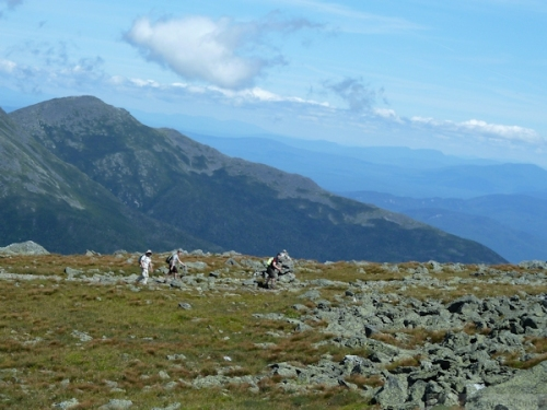 hikers ascending Mount Washington