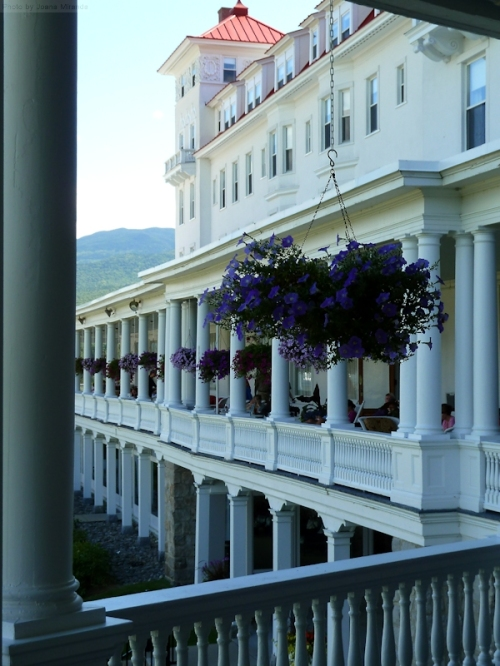 Wrap around terrace at Mount Washington Hotel