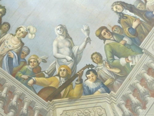 ceiling painting in Palacio de Queluz