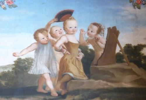 cherubs at Palacio Queluz