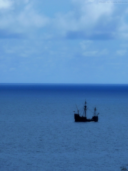historic ship off the coast of Madeira