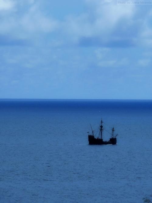 historic ship off the coast of Madeira