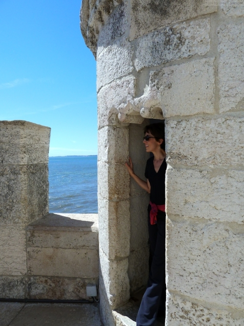 Joana at the Torre de Belem