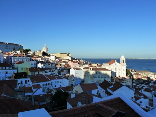 Lisbon as seen from Alfama