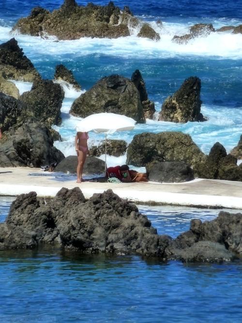 madeira natural pool and bathers