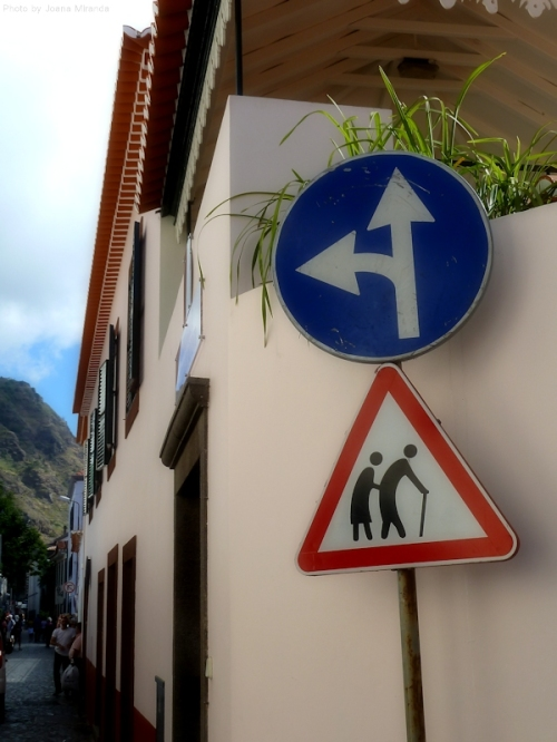 Old people crossing in Madeira