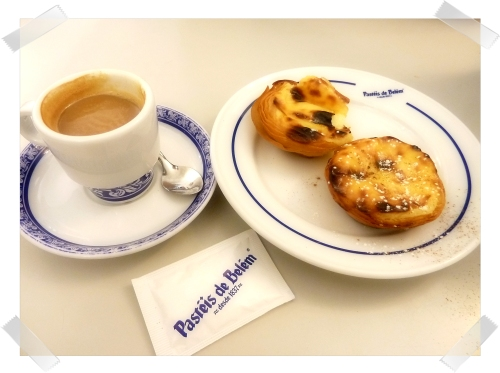 pasteis de Belem with coffee