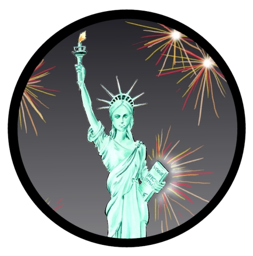 Lady Liberty Calendar Illustration