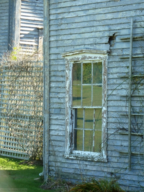 Nantucket weathered windows