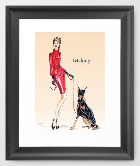 Fetching Framed Wall Art print