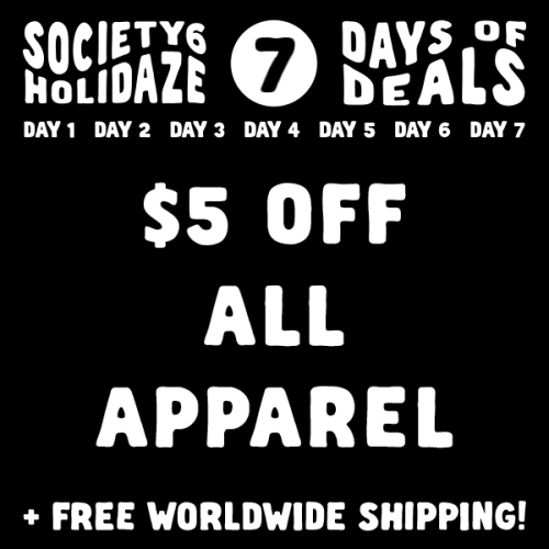 Society6 Apparel Sale
