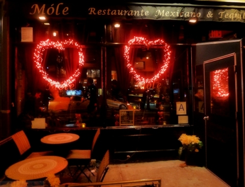 Mole restaurant in the Village