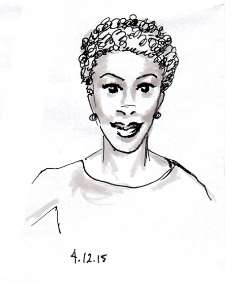African American lady sketch