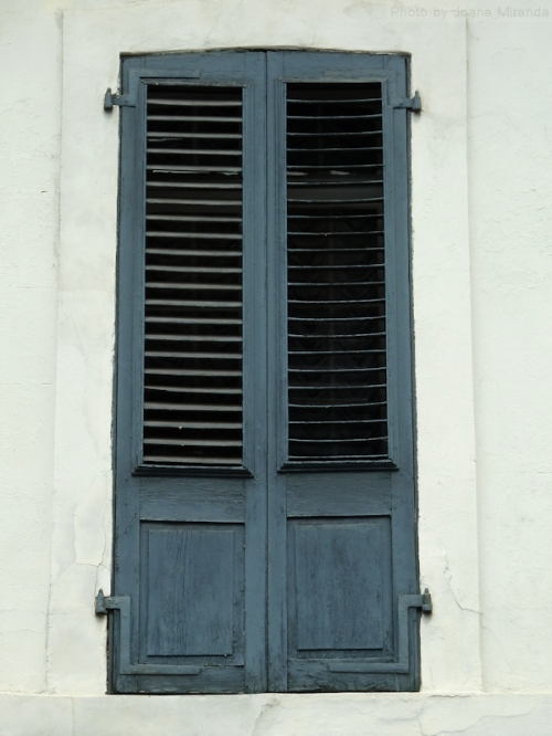 Blue door with shutters in New Orleans