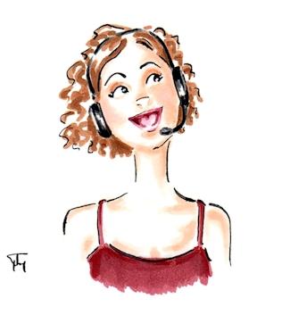 Happy headset illustration 325