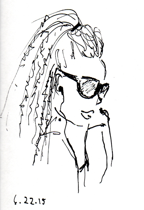 African American woman in sunglasses