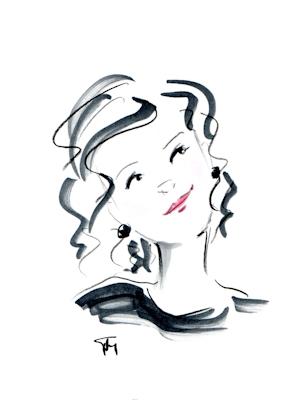 whimsical head sketch