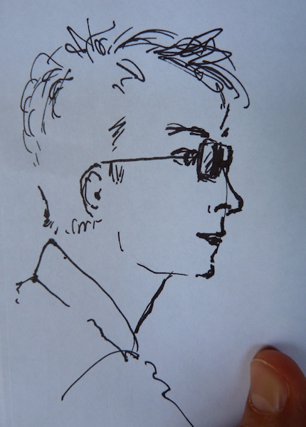 Andy's head side view sketch